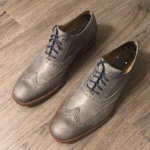 Cole Haan Colton wing grey/blue men's dress shoes